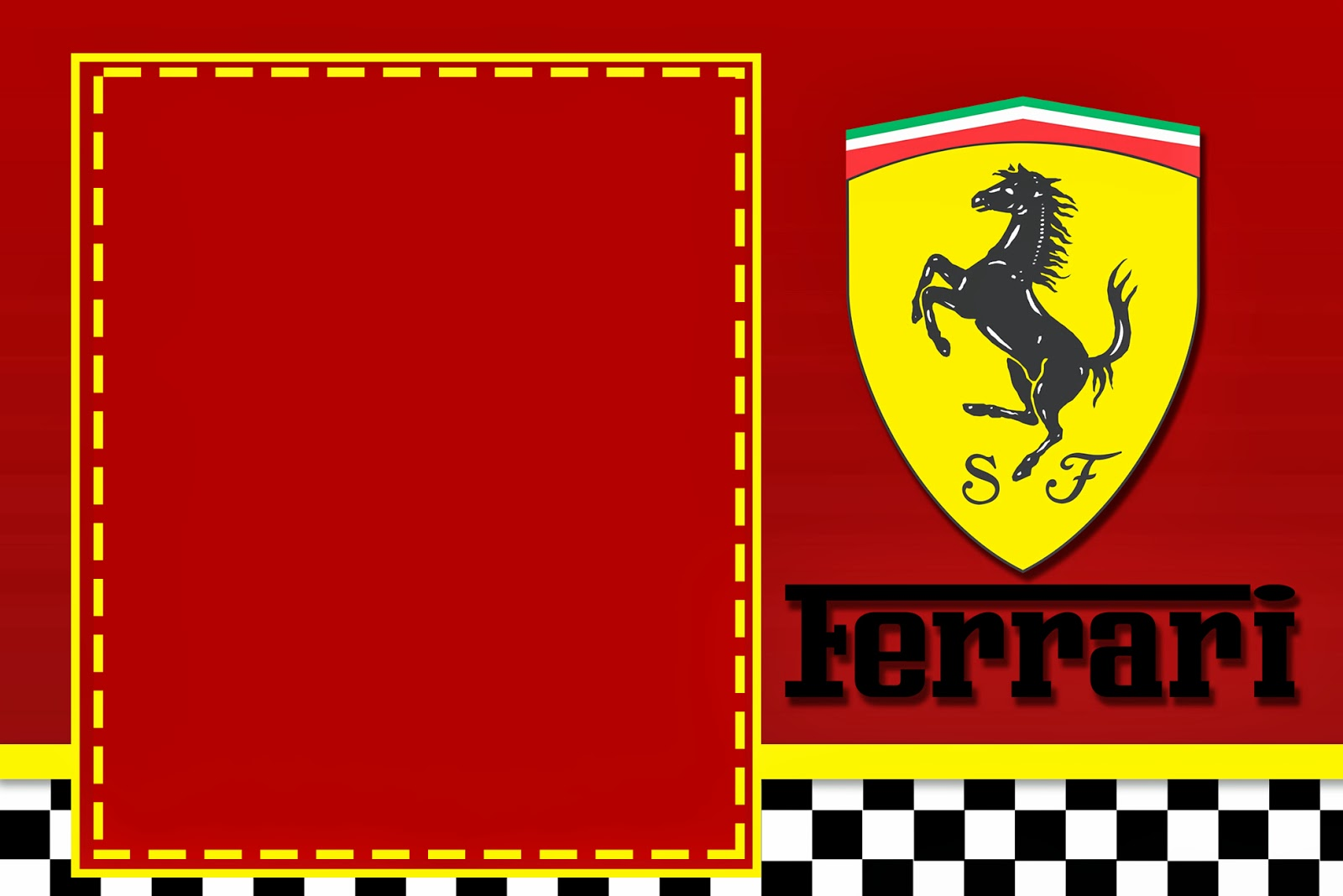 Ferrari Mini Kit Com Molduras Para Convites R 243 Tulos Para
