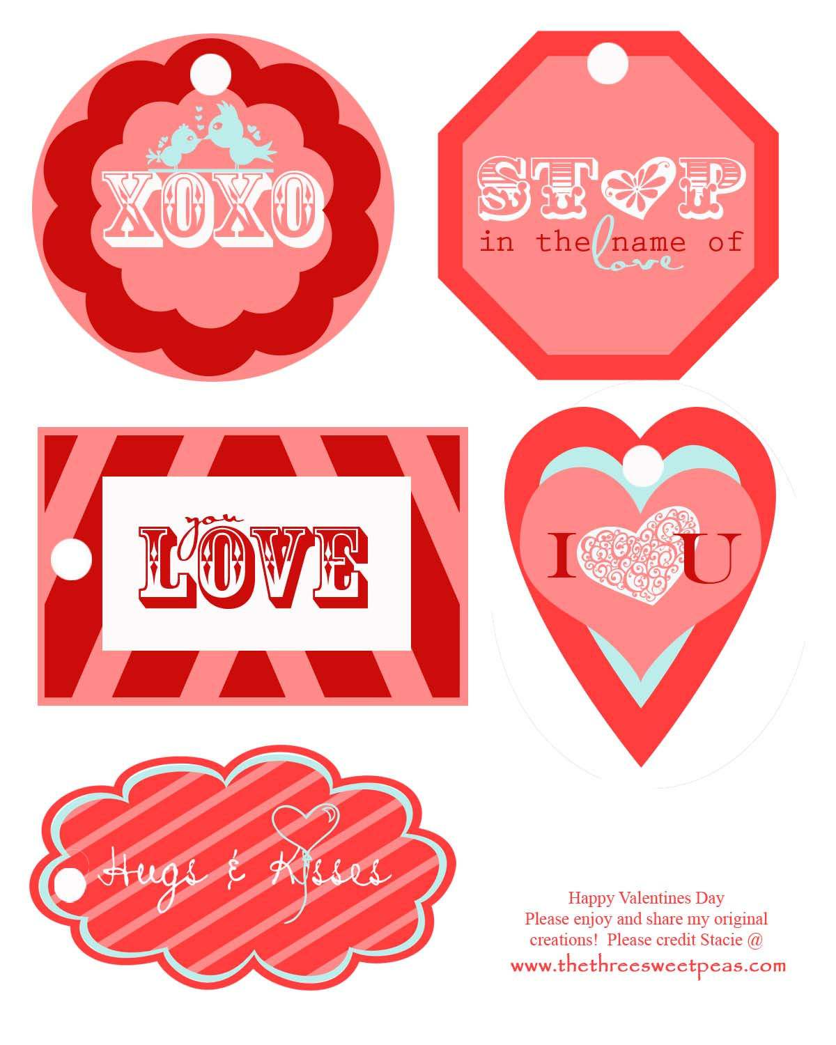 The Three Sweet Peas: Free Valentine's Day Tags