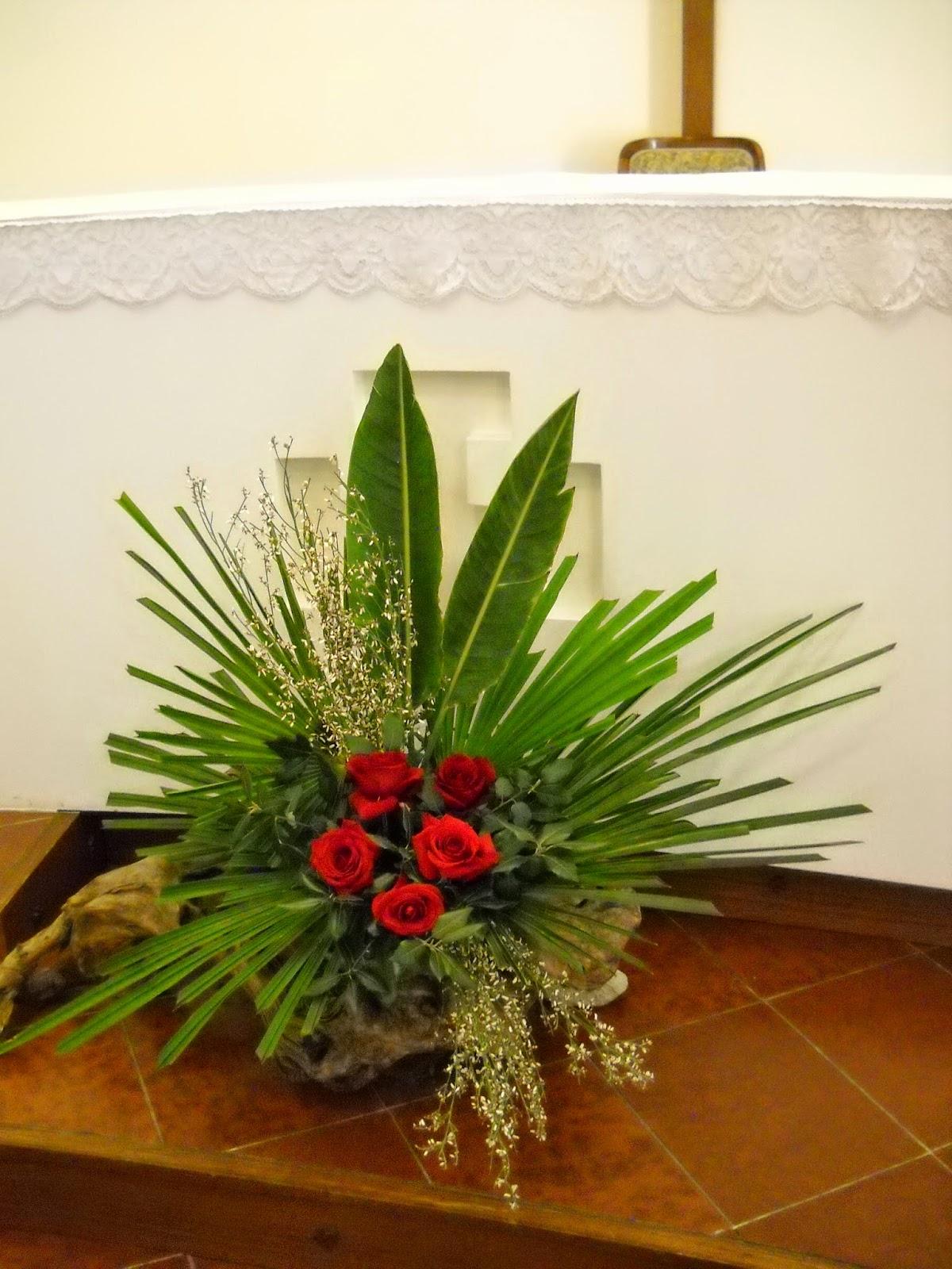 Arte Floreale Per La Liturgia Domenica Di Passione O Delle Palme