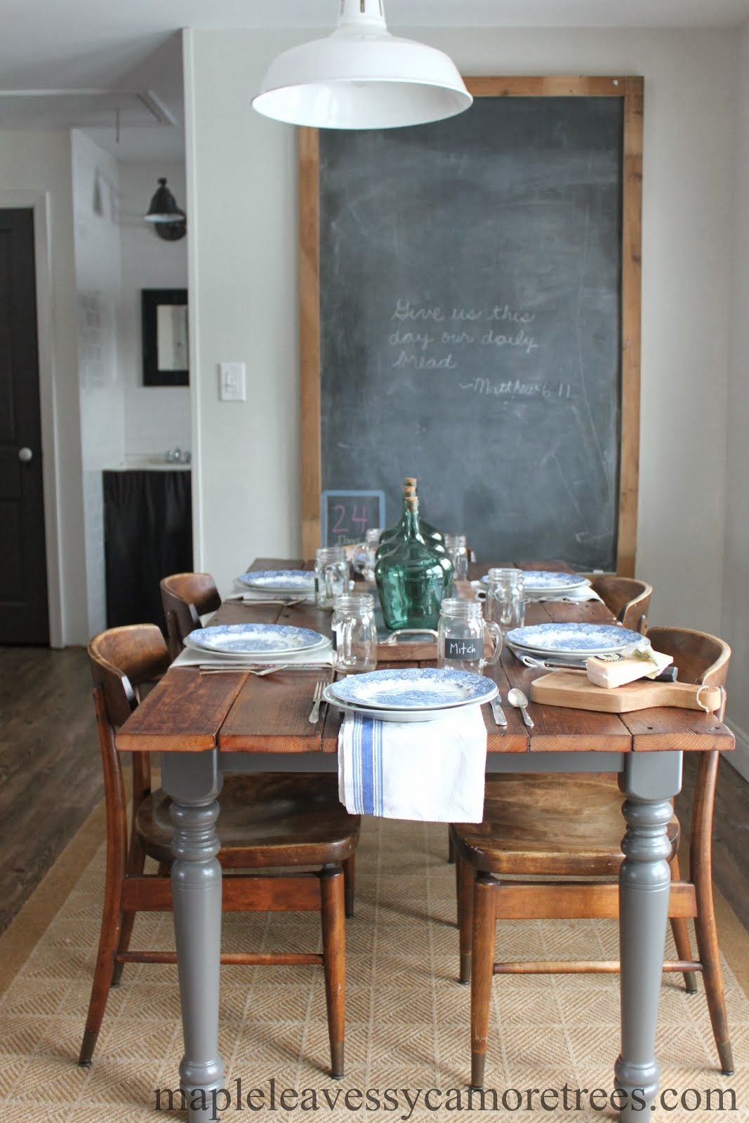 DIY Barnwood-topped Table