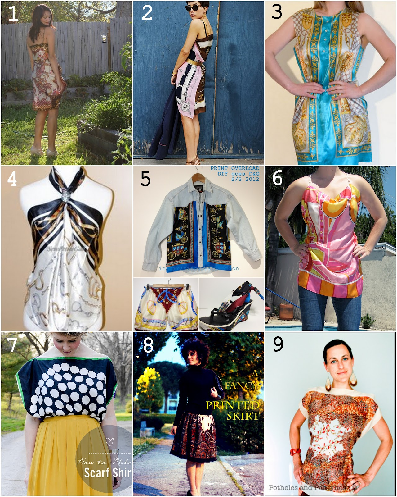 DIY Silk Scarf Dresses