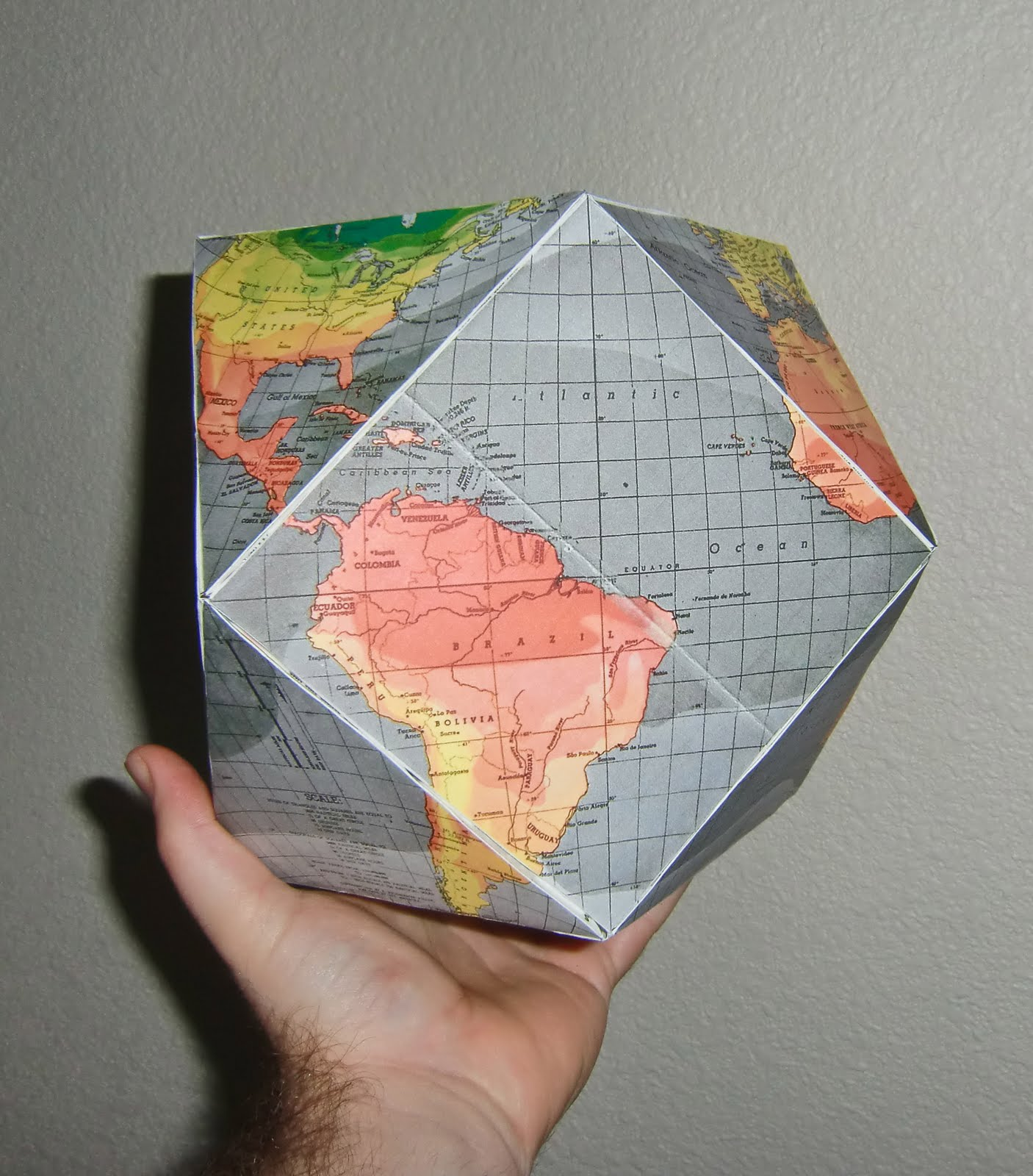 An ocean of knowledge an inch deep dymaxion world cubeoctahedron globe dymaxion world cubeoctahedron globe gumiabroncs Images