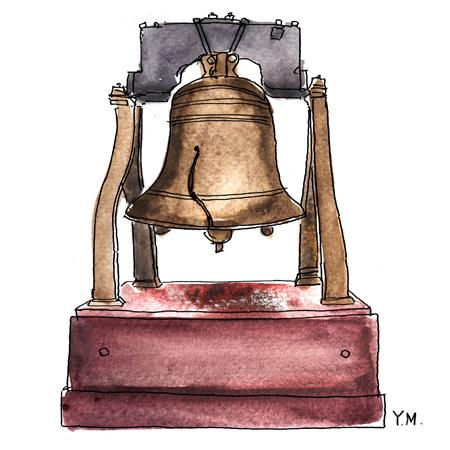 liberty bell by Yukié Matsushita