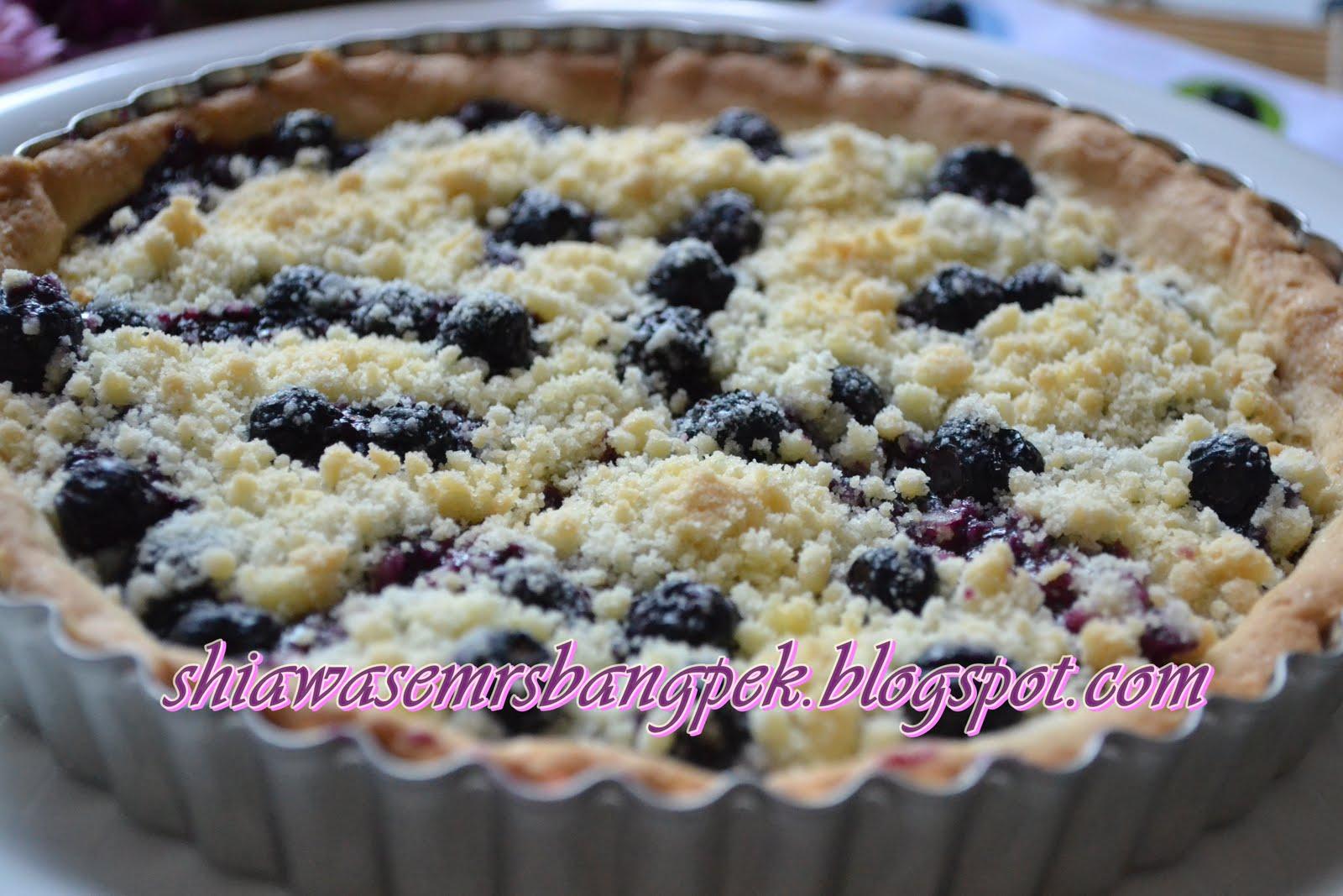 :: ShiawaseMrsBangpek::: Blueberry Crumble Pie