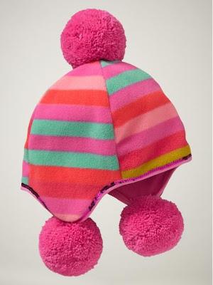 Striped fleece sequin-trim hat