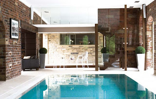 small private swimming pool design inside the house