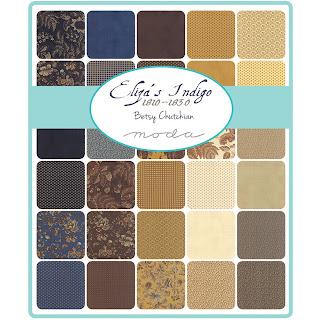 Moda Eliza's Indigo Fabric by Betsy Chutchian for Moda Fabrics