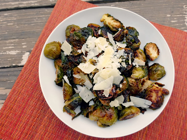 roasted brussels sprouts with parmesan and garlic cloves recipe