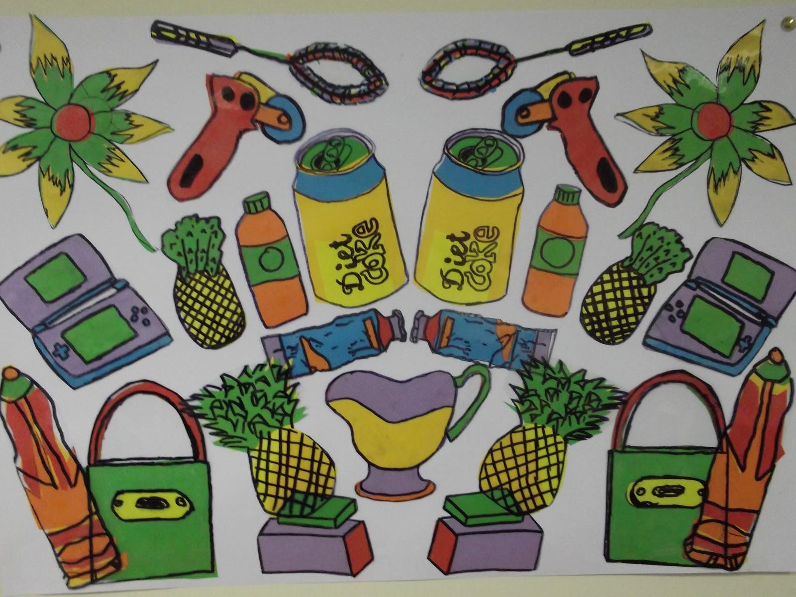 PCA - Art Blog: 2nd Year - Michael Craig Martin and Pop Art Project