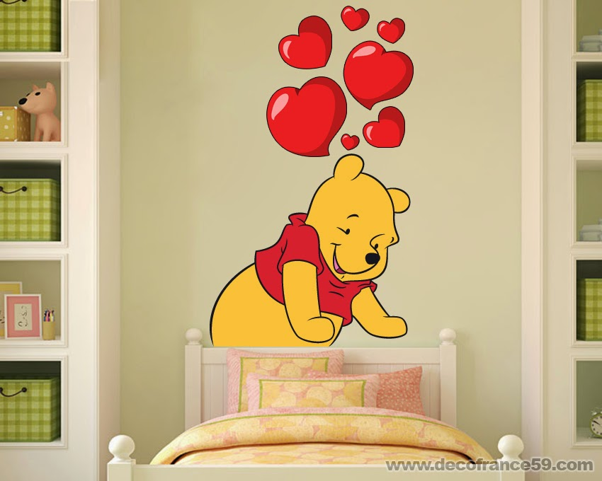 Chambre bebe winnie the pooh avec des id es for Stickers disney chambre bebe
