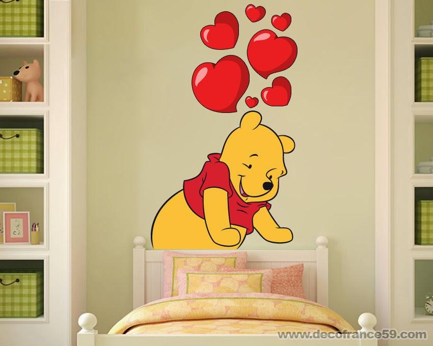 Chambre bebe winnie the pooh avec des id es for Stickers ourson chambre bebe
