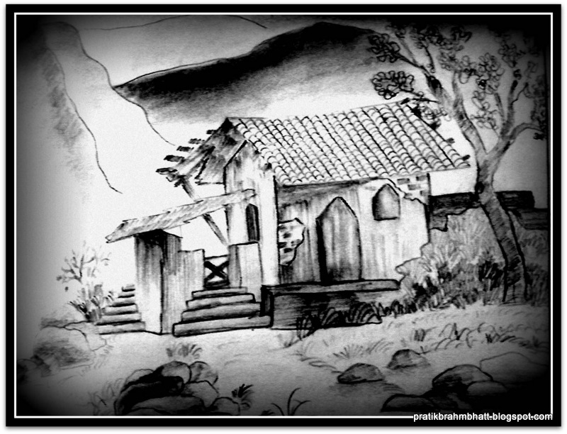Pencil Shading Drawings of Houses
