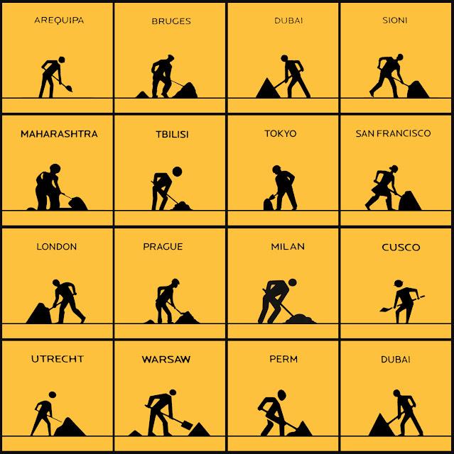 isotipos,  pictogramas,  trabajo, NY, Zona cero, Milan, Arequipa, San francisco,Tokyo, London, Prague, y otros