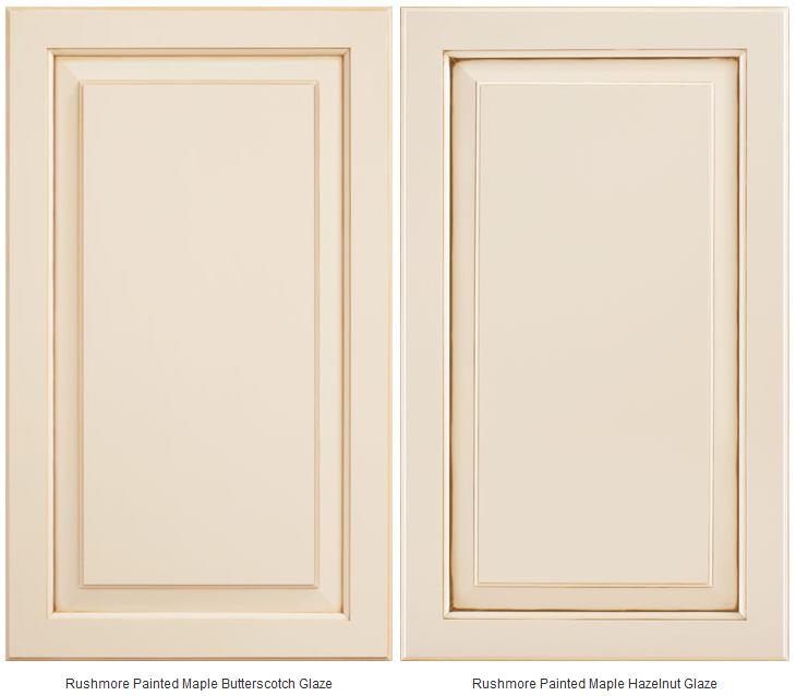 Rushmore Painted Hazelnut Glaze Cabinets