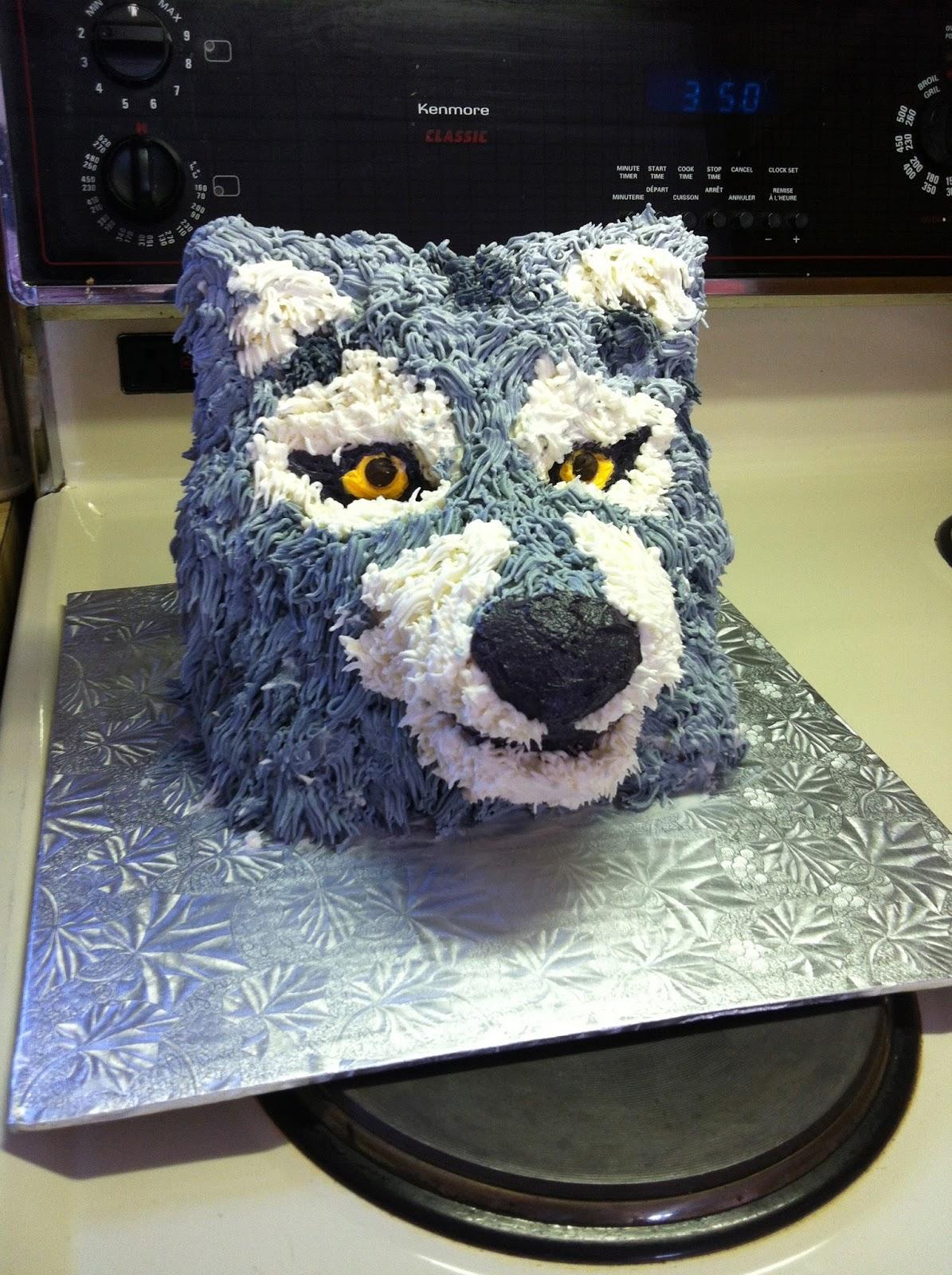 Dog Head Birthday Cake