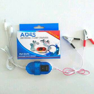 Charger HP dr Aki / Accu (Cas HP pada Motor)
