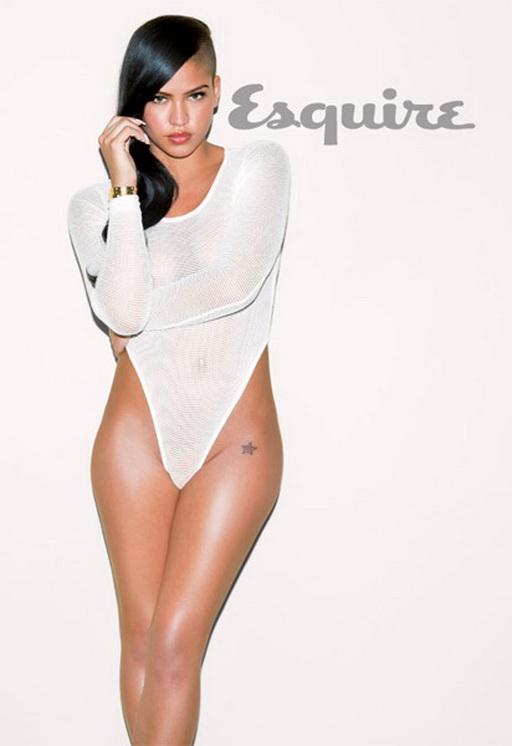 Cassie wearing a white bodysuit