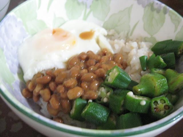 納豆秋葵丼,自製納豆