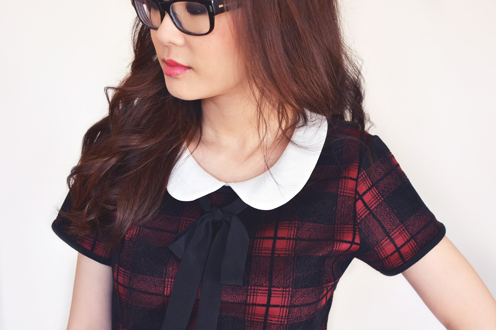 red tartan dress, how to style a red tartan dress