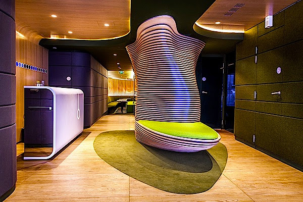Futuristic Interior Design Of Hotel O In Paris By Ora Ito