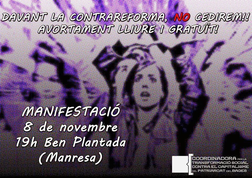 Davant la contrareforma, no cedirem!! Avortament lliure i gratuït