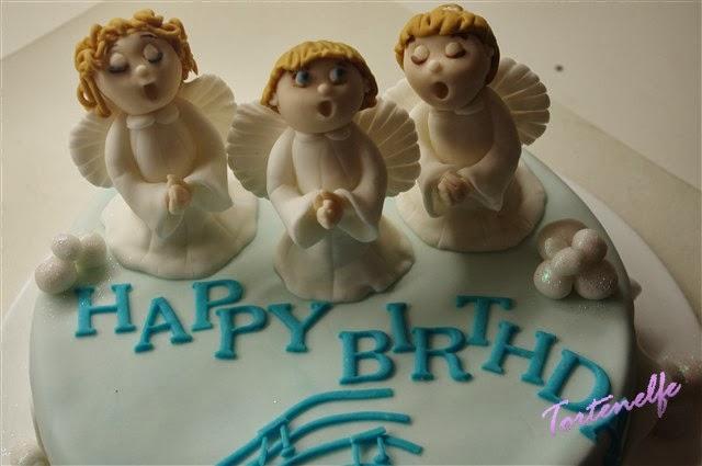Cake Art Decor Zeitschrift : Tortenelfes Blog - Backe, backe, Kuchen ...: Engeltorte zum Geburtstag