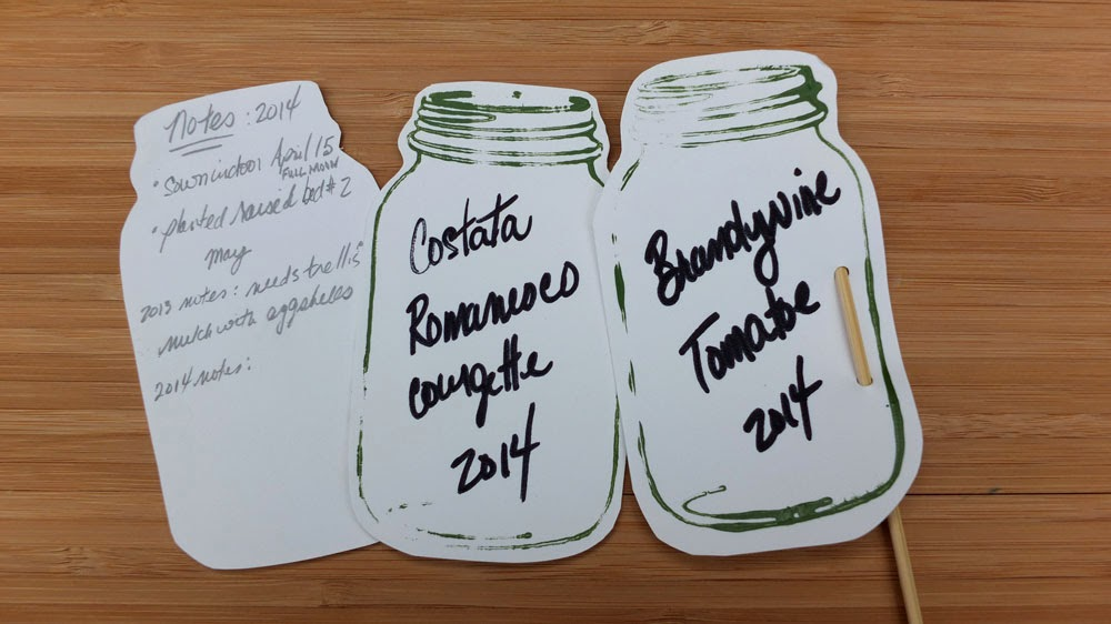 herb garden , vegetable garden , plant markers
