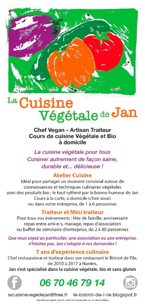 @La Cuisine vegetale de Jan, Chef à domicile, Artisan Traiteur et Cours de Cuisine VéGétaLe et Bio