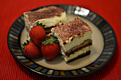 Tiramisu with cooked eggs