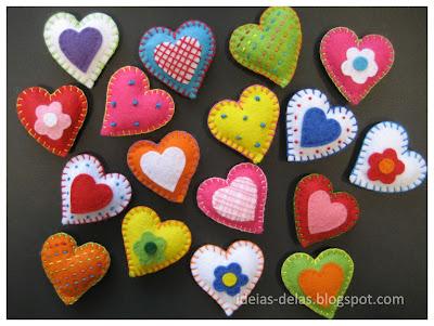 corações marcadores de mesa
