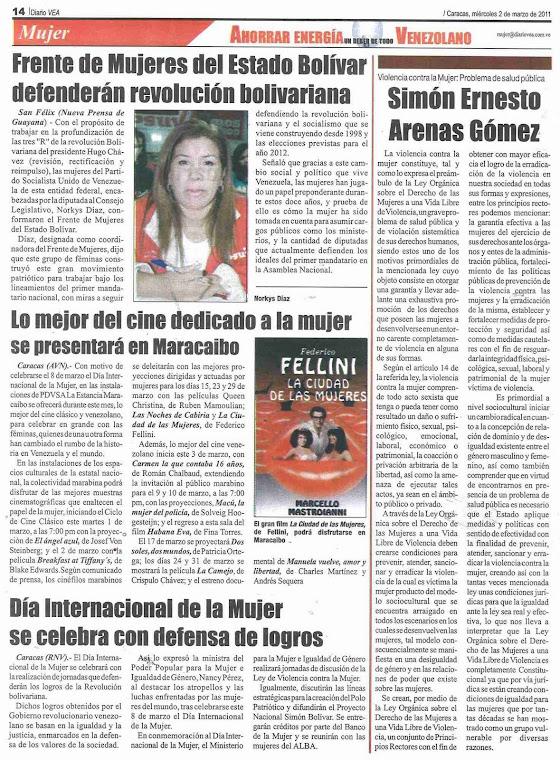 """Violencia Contra la Mujer: """"Problema de Salud Pública"""""""