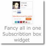 'All In One' Subscription box widget for Blogger