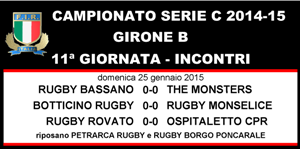 11^ GIORNATA SERIE C GIRONE B
