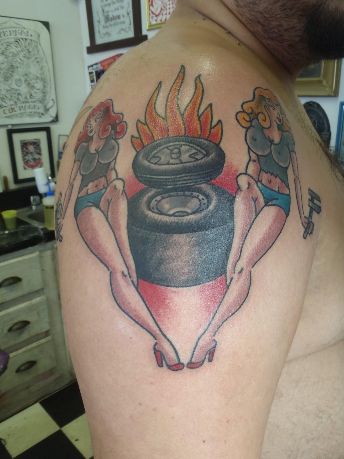V8 Piston Tattoo red sea tattoo: robert...