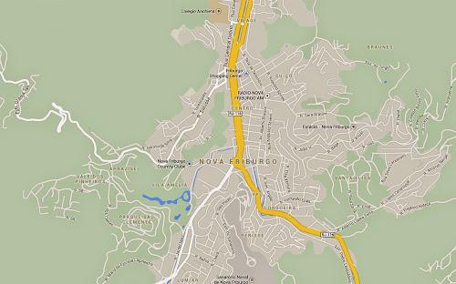 Mapa de Nova Friburgo