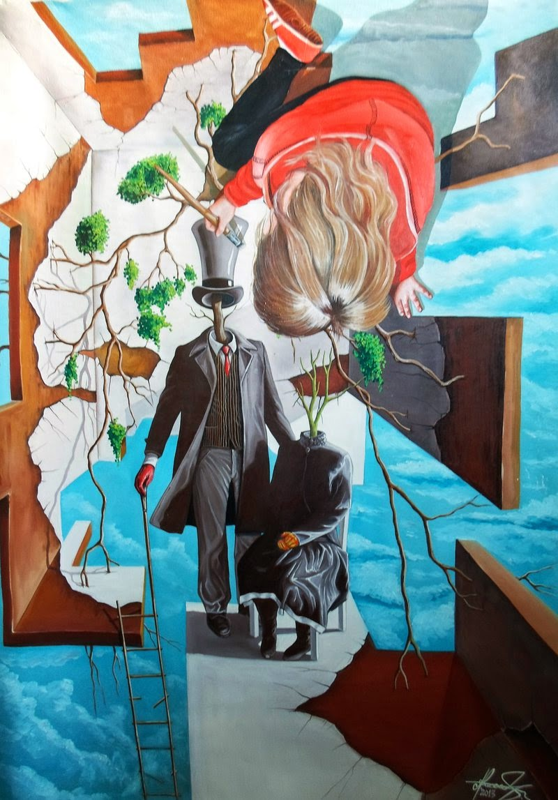 08-Family-Tree-Raceanu-Mihai-Adrian-Surreal-Oil-Paintings-www-designstack-co