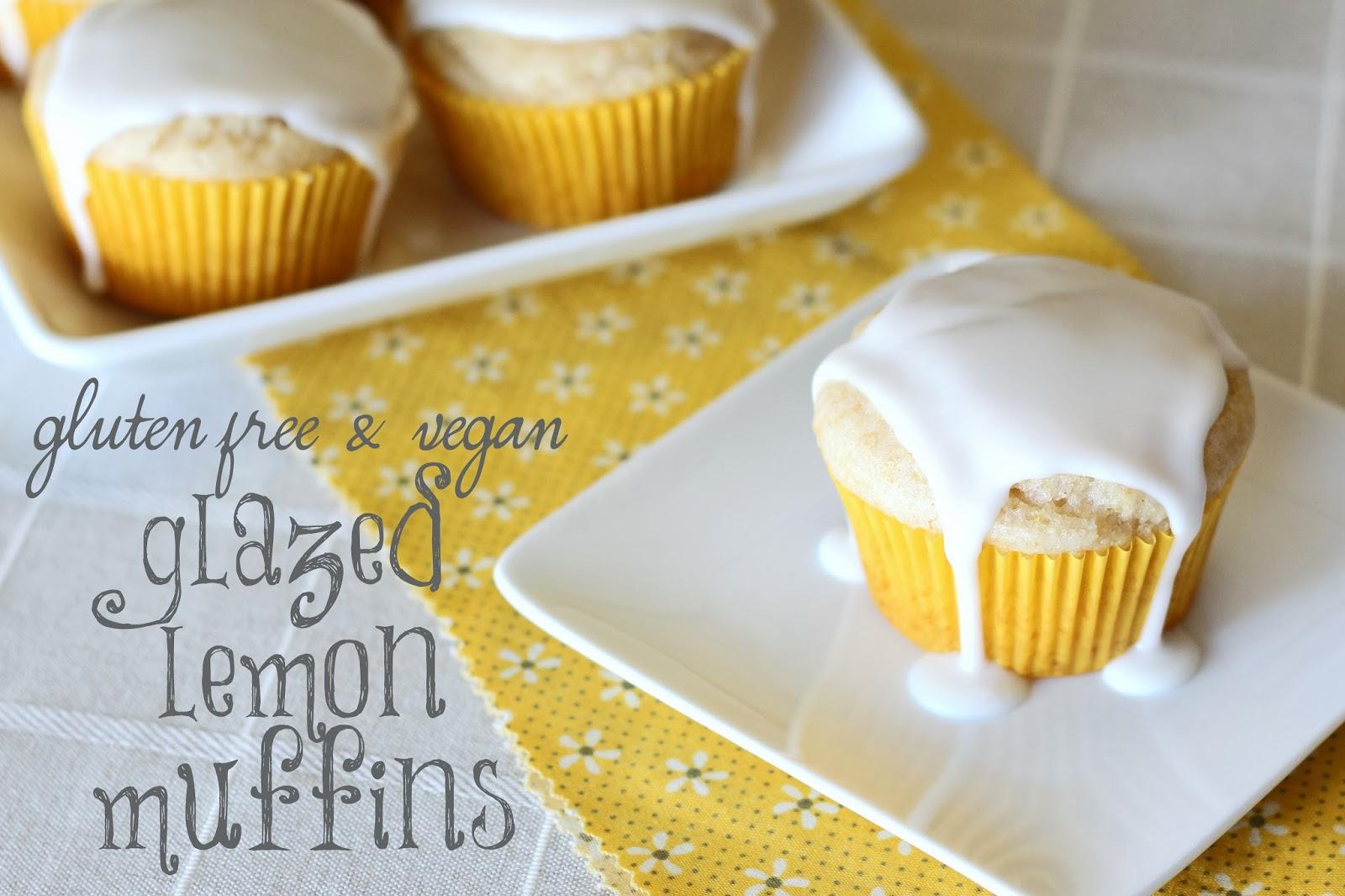 ... ...gluten free vegan glazed lemon muffins - Sarah Bakes Gluten Free