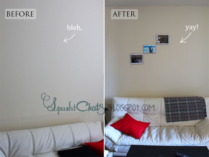 SpushtChats | DIY fake photo canvas | Frugal Ideas | Wall decor on a tight budget