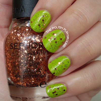 Sephora by OPI Traffic-Stopper Copper over American Apparel Crescent Heights
