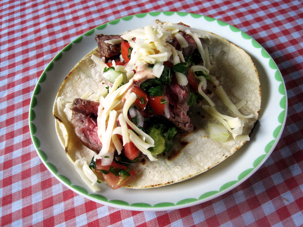 Carne Asada Tacos Vampiro (adapted from Amor y Tacos )
