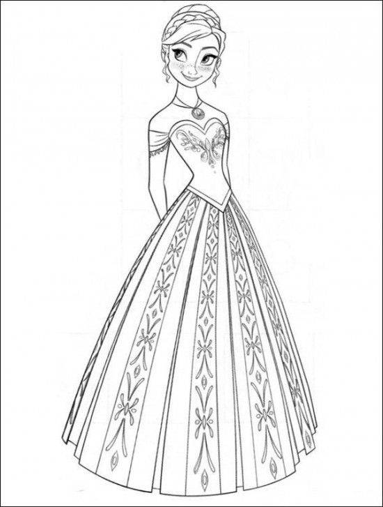 Coloring Pages Of Disney Frozen : Coloring page world frozen portrait