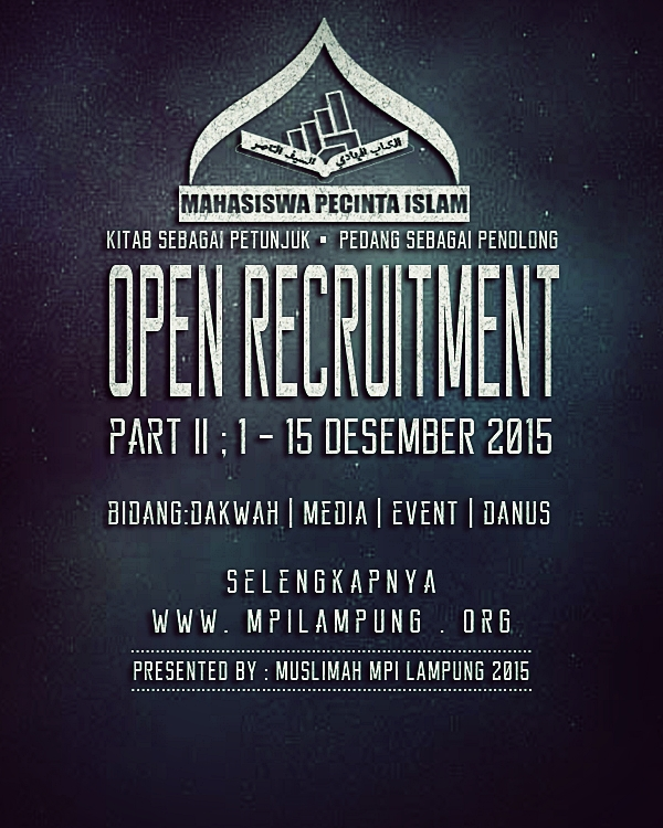 Open Recruitment Muslimah MPI Lampung Part II