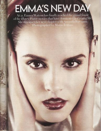 emma watson vogue 2011 july. Emma Watson Vogue July 2011