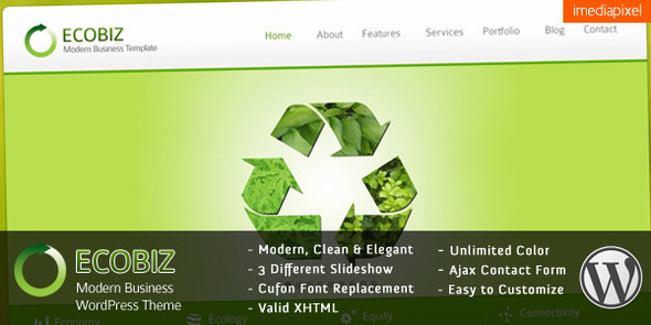 ECOBIZ v1.4 - Business WordPress Theme Free Download by ThemeForest.