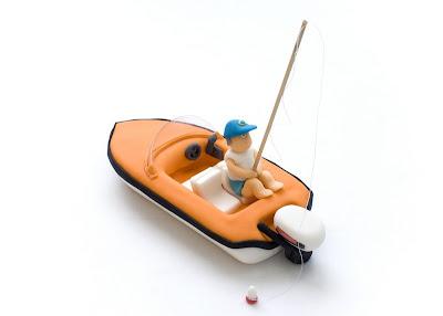 Ribič na morju - Fisherman on sea fondant