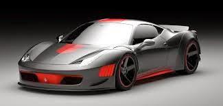 review mobil ferrari 458 warna hitam