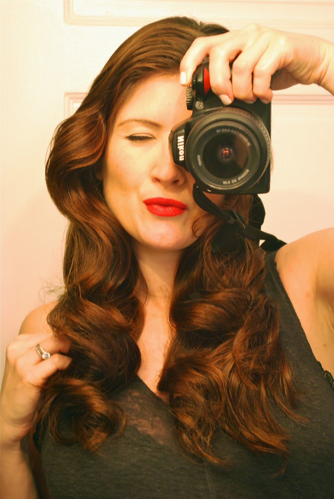 November Grey Retro Curls With Hot Rollers