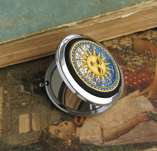 Compact pocket mirrors, зеркало, sun