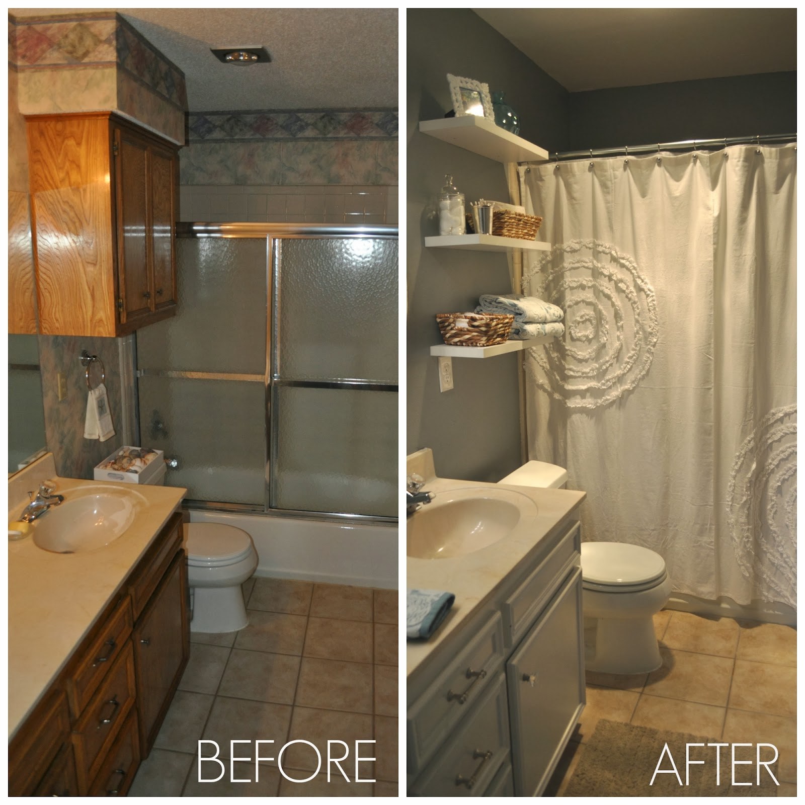 Before and after guest bathroom jesse coulter for Bathroom before and after