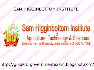 Sam Higginbottom Institute of Agriculture Technology & Sciences